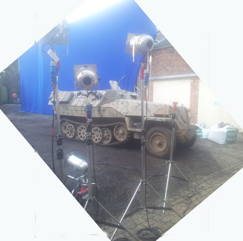 ACTION VEHICLES ON SET
